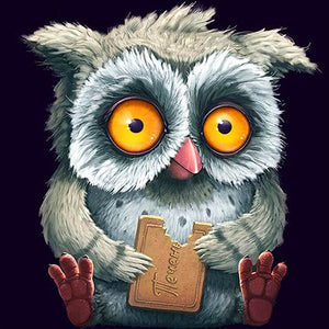 Owl Eating Biscuit - DIY Diamond Painting