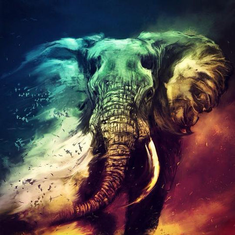 Image of Elephant Scene - DIY Diamond Painting