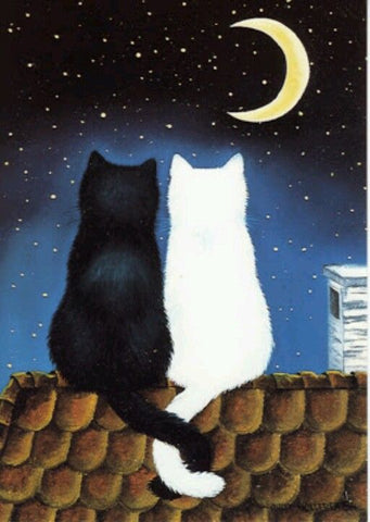 Image of Couple Cat in the Roof - DIY Diamond Painting