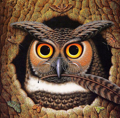 Image of Genius Owl - DIY Diamond Painting