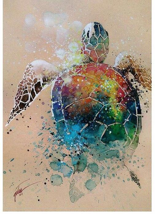 Colored Turtle - DIY Diamond Painting