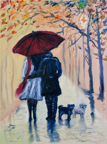 Image of Couple Walking #6 - DIY Diamond Painting