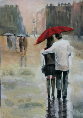 Image of Couple Walking #5 - DIY Diamond Painting