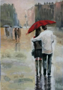 Couple Walking #5 - DIY Diamond Painting