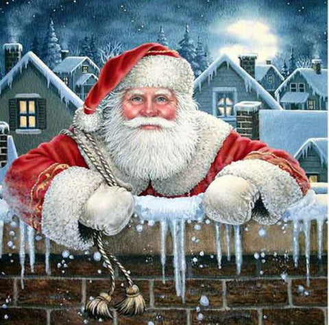 Image of Santa Claus in Snowland - DIY Diamond Painting