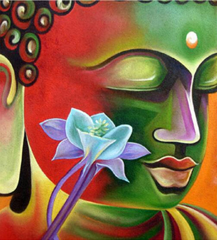 Image of Buddha in Lotus Flower #2 - DIY Diamond Painting