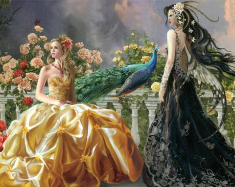 Image of Princess and Fairy - DIY Diamond Painting