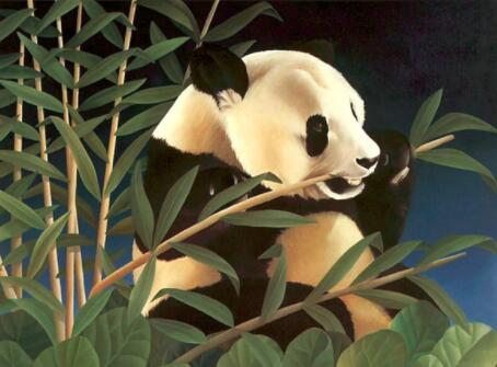 Image of Panda Eating Bamboo - DIY Diamond Painting