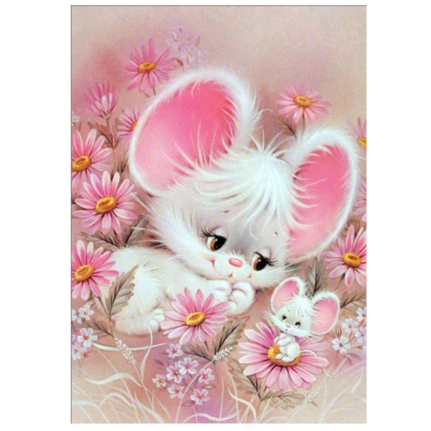Mouse in the Flowers - DIY Diamond Painting