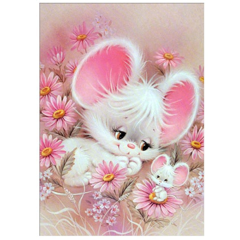 Image of Mouse in the Flowers - DIY Diamond Painting