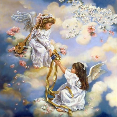 Image of Baby with Little Angel #6  - DIY Diamond Painting
