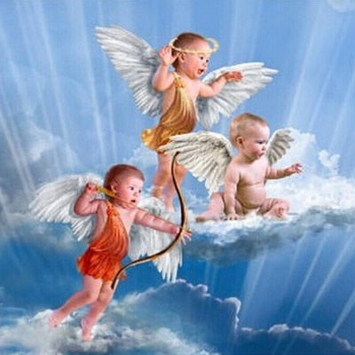 Image of Baby with Little Angel #5 - DIY Diamond Painting