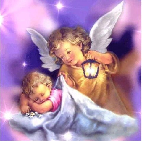 Image of Baby with Little Angel #3 - DIY Diamond Painting