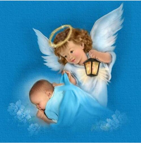 Image of Baby with Little Angel #2 - DIY Diamond Painting