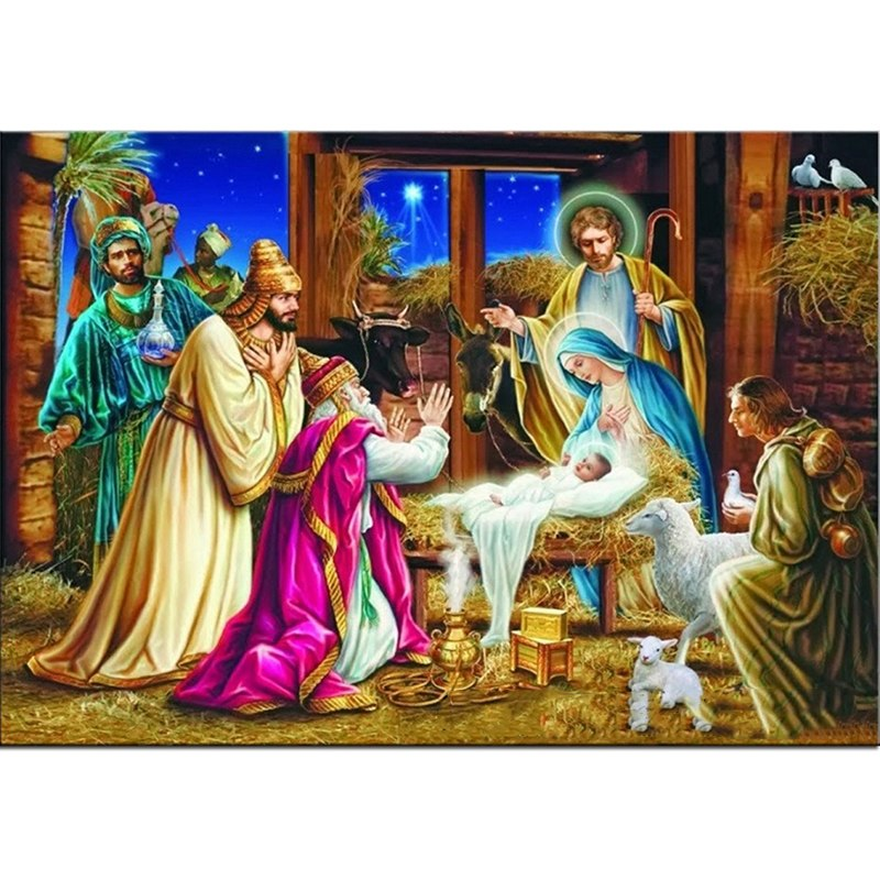 jesus christ birth painting