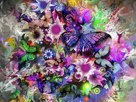 Image of abstract butterfly painting