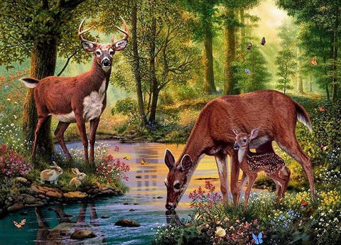 Image of deer canvas painting