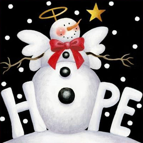 Image of H.O.P.E. Snowman - DIY Diamond  Painting