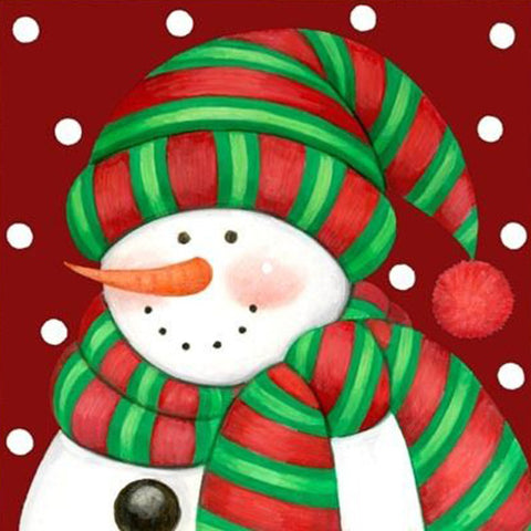 Image of Freezing Snowman - DIY Diamond  Painting