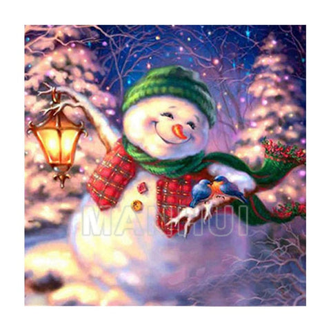 Image of Happy Snowman - DIY Diamond  Painting