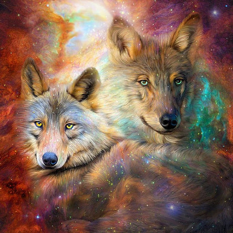 Image of Tribe Wolves - DIY Diamond  Painting