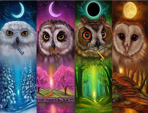 Image of Four Season Owls - DIY Diamond  Painting