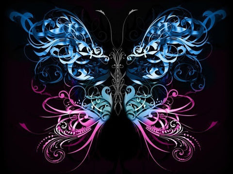 Image of Neon Butterfly #2 - DIY Diamond Painting