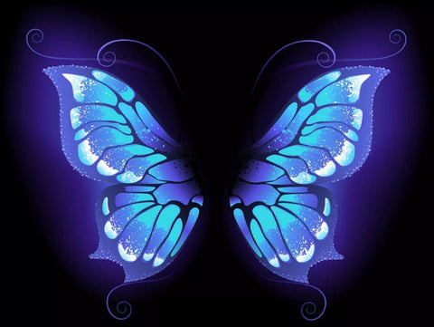 Image of Neon Butterfly #1 - DIY Diamond Painting