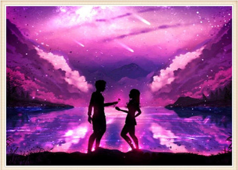 Image of Couple Sky Landscape #3 - DIY Diamond Painting