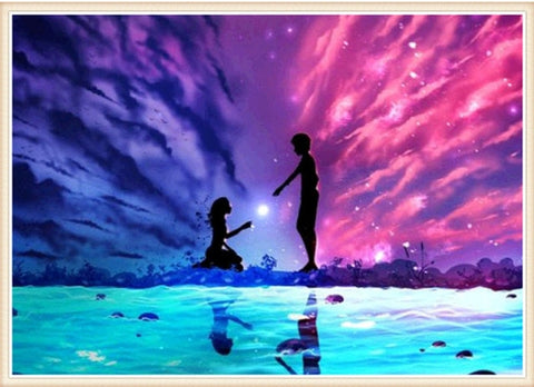 Image of Couple Sky Landscape #2 - DIY Diamond Painting