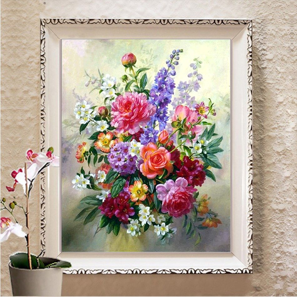 Assorted Flowers - DIY Diamond Painting