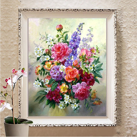 Image of abstract flower paintings