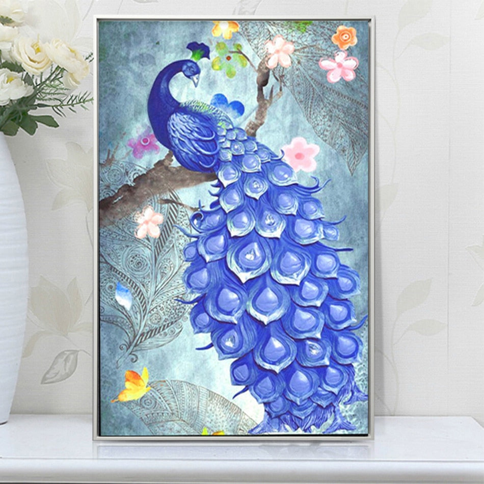 Lovely Peacock - DIY Diamond Painting