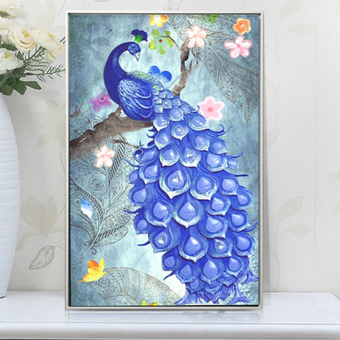 Image of Lovely Peacock - DIY Diamond Painting