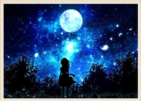 Image of Starry Sky Scenery #1 - DIY Diamond Painting