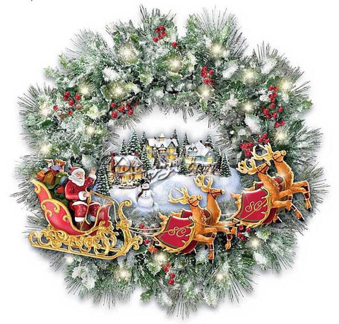 diamond painting christmas wreath