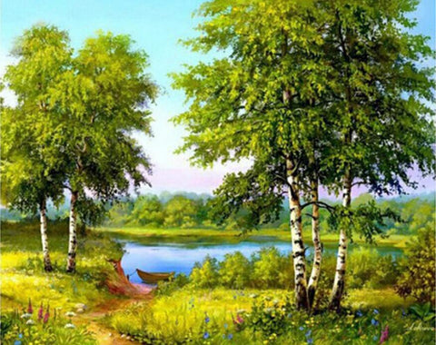 Image of Forest Scenery #3 - DIY Diamond Painting