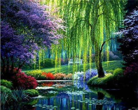 Image of Forest Scenery #1 - DIY Diamond Painting