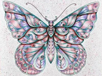Mosaic Butterfly #3 - DIY Diamond Painting