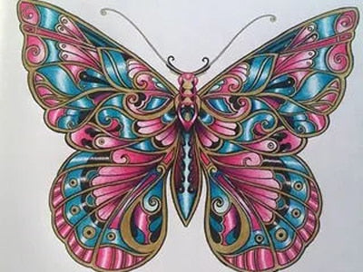 Mosaic Butterfly #2 - DIY Diamond Painting