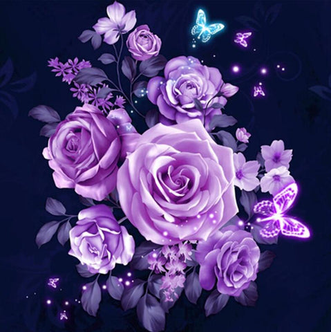 Image of Violet Rose - DIY Diamond Painting