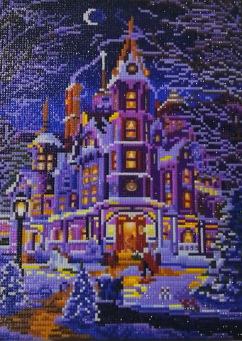 Castle in the Night LED Light - DIY Diamond Painting
