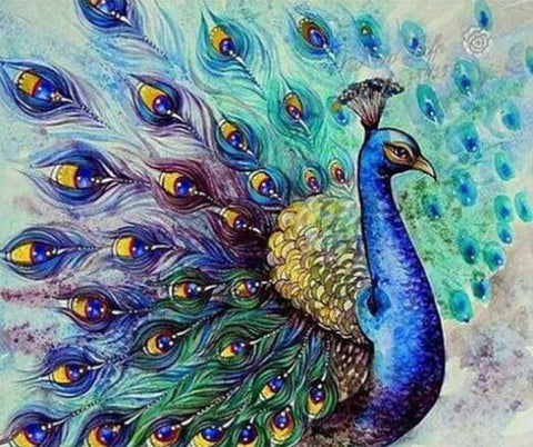 Image of Classic Peacock - DIY Diamond Painting