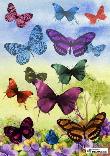 butterfly paintings easy