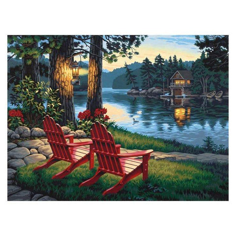 Image of Lake View - DIY Diamond Painting