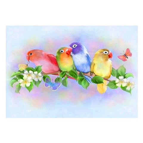 Image of Colorful Parrots - DIY Diamond Painting