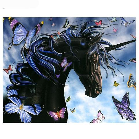Image of Black Unicorn - DIY Diamond Painting