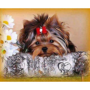 Resting Dog - DIY Diamond Painting