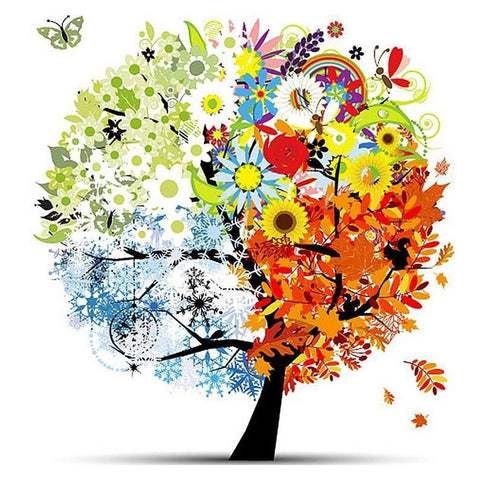 Image of Colorful Summer Tree - DIY Diamond Painting