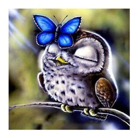 Image of Relaxed Owl - DIY Diamond Painting